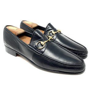 GUCCI EEL Exotic Leather Black Dress Loafer